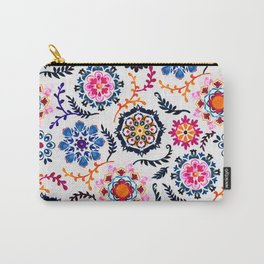 Happy Color Suzani Inspired Pattern Carry-All Pouch