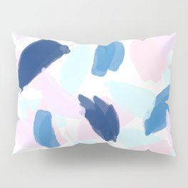 Blue and Pink Paint Pillow Sham