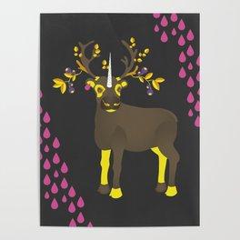 Reindeer Unicorn Poster