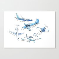 airplane Canvas Prints featuring airplane by Goga Alexandra