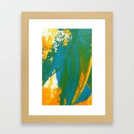 Wings Collection orange/cyan Framed Art Print