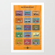 Motor Style Inc.: Motorsport Heroes Art Print