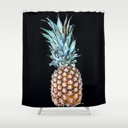 Pineapple On A Black Background #decor #society6 Shower Curtain
