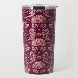 Classic Floral Pattern Travel Mug