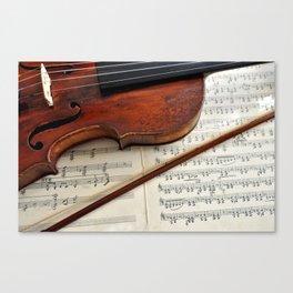Old violin Canvas Print