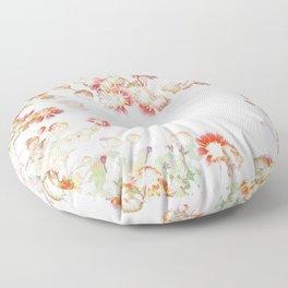 Ethereal Pastel Summer Garden Floor Pillow