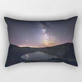 (RR 294) Milky Way above Lough Tay - Ire Rectangular Pillow