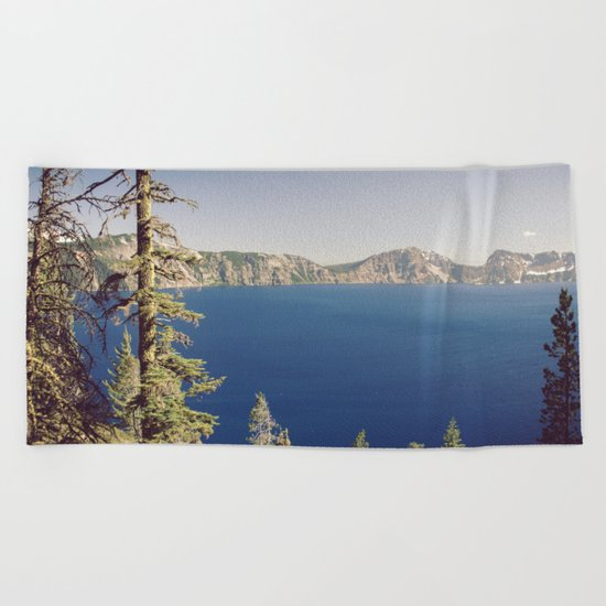 Beautiful Blue Crater Lake Beach Towel