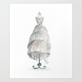 The Gray Dress Art Print