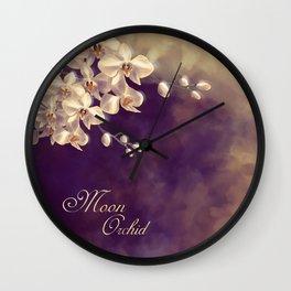 Moon Orchid Wall Clock