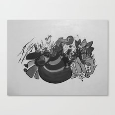 Doodles on White Canvas Print
