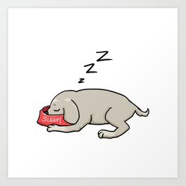 I just want to nap zzzzz Art Print