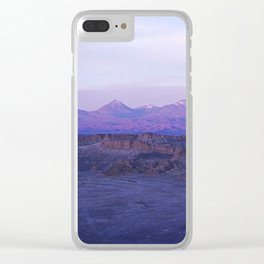 Sunset in Moon Valley (Chile) Clear iPhone Case