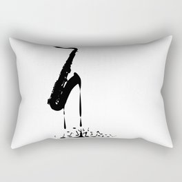 Melting Saxophone Silhouette Rectangular Pillow