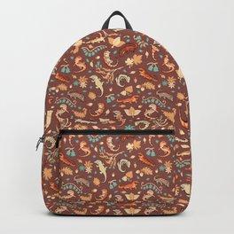 Autumn Geckos in light brown Backpack