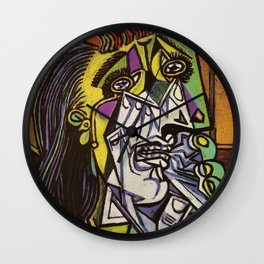 THE WEEPING WOMAN - PICASSO Wall Clock