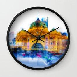 Flinders Street Photo Montage Wall Clock