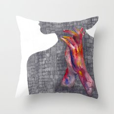 Hands #3 Throw Pillow