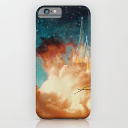 Seeing a City in the Clouds iPhone Case