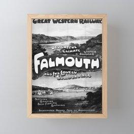 GWR Falmouth poster Framed Mini Art Print