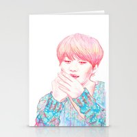 shinee Stationery Cards featuring SHINee Taemin by sophillustration