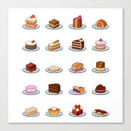 Pixel Cakes Canvas Print