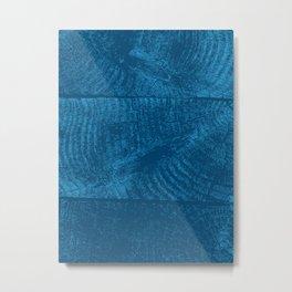 Wood Waves Metal Print
