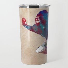 American football player #football #sport Travel Mug