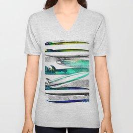 Surfboard Surf Sketch Stripe Unisex V-Neck
