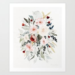 Loose Watercolor Bouquet Art Print