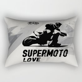 Supermoto Love Rectangular Pillow