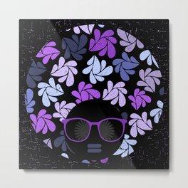 Afro Diva Purple Metal Print