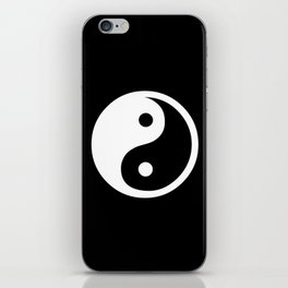Yin Yang Black White iPhone Skin