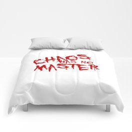 Chaos Has No Master Blood Red Graffiti Text Comforters