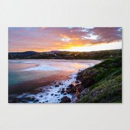South Coast Sunset Canvas Print