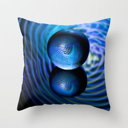 Blue in the crystal ball Throw Pillow