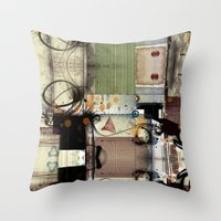picasso Throw Pillows featuring Everyday Picasso by Robin Curtiss