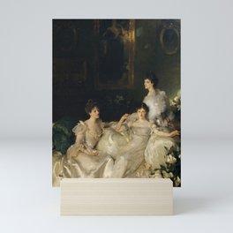 "John Singer Sargent ""The Wyndham Sisters: Lady Elcho, Mrs. Adeane, and Mrs. Tennant "" Mini Art Print"