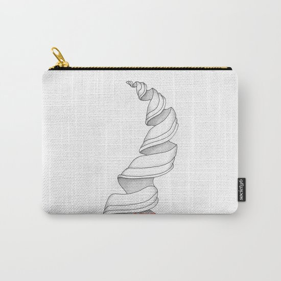 Life Spiral Zentangle Illustration Carry-All Pouch