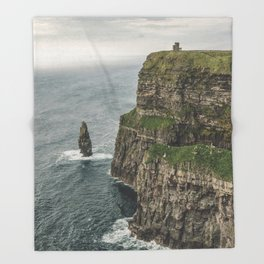 The Cliffs of Moher Throw Blanket
