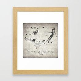 Peter Pan Quote Framed Art Print