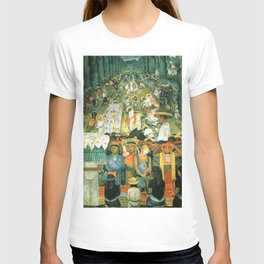 Diego Rivera Friday of Sorrows on the Canal Santa Anita, Mexico with Calla lilies landscape painting T-shirt