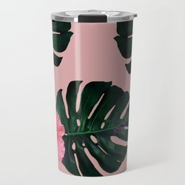 Tropical pattern n.1 - pink Travel Mug