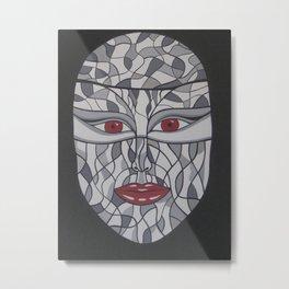 Woman's Visage red eyes Metal Print