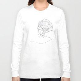 unobtrusiveness - continuous line portrait Long Sleeve T-shirt