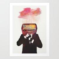 radiohead Art Prints featuring Radiohead by Daniel Taylor