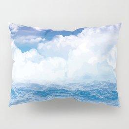 Wolken über dem Meer Pillow Sham