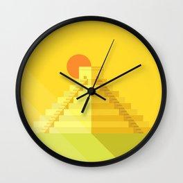 Chichén Itza Wall Clock