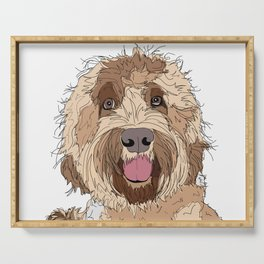 Goldendoodle Dog Serving Tray