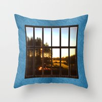 the office Throw Pillows featuring Office imagination. by South43
